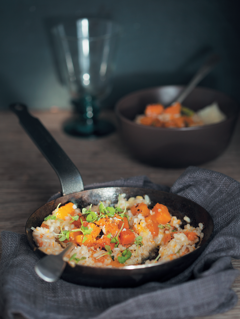 Pumpkin, Gruyere and sage risotto