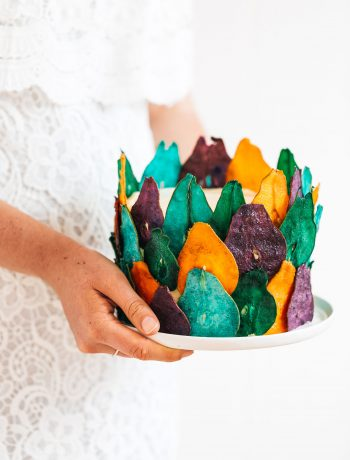 "Chocolate-and-almond ""stained glass"" cake"
