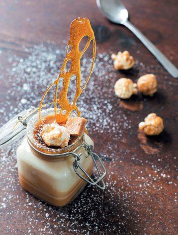 Salted caramel crème brûlée jam jars