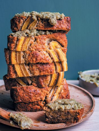 "Banana bread with hemp-seed ""butter"""