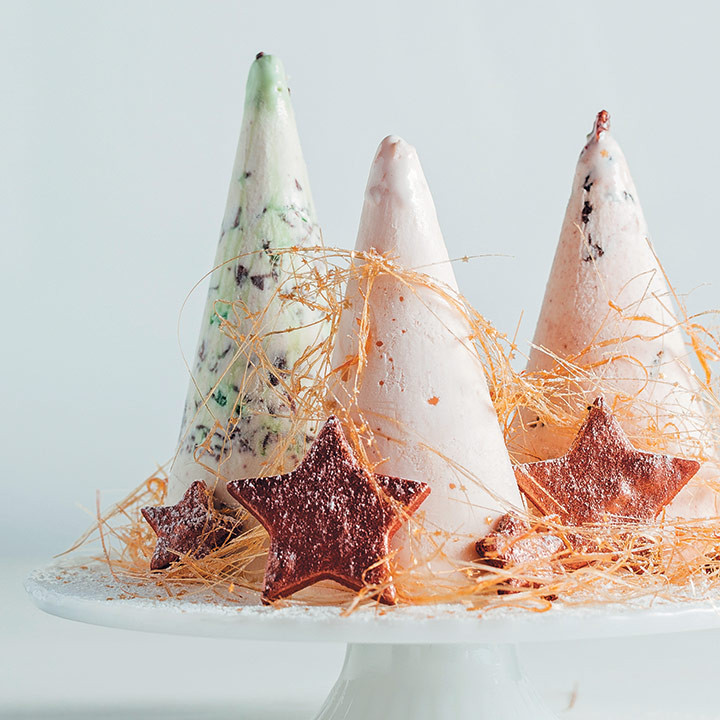 Ice-cream Christmas trees