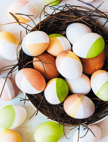 Dip-dyed geometric eggs