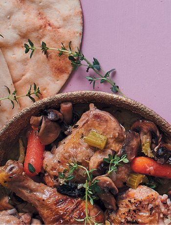 Chicken stew with naan
