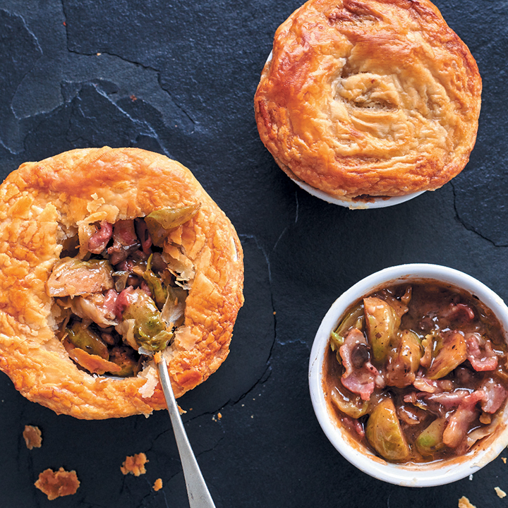 Bacon and veggie pies