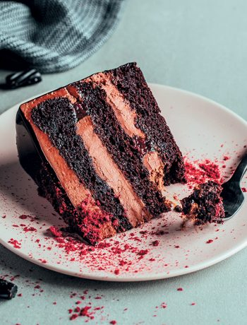 Black forest liquorice mousse cake
