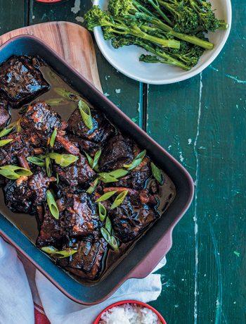 Slow-braised beef short ribs